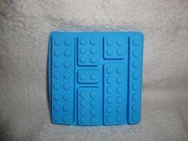 Bouwstenen siliconen mal - mould - 7 steentjes