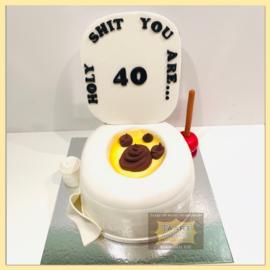 40 jaar taart 3D voor 16 personen