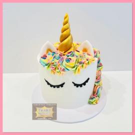 Eenhoorn/ unicorn regenboog taart 10 personen