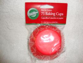 Cupcake vormpjes Kerst Rood & Groen 75 stuks Wilton - 415-2112
