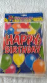 Happy Birthday feestzakjes - 8 stuks