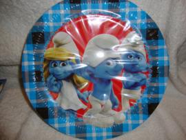 Smurfen borden 8 stuks