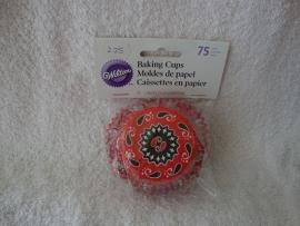 Cupcake vormpjes Folkore rood/blauw 75 stuks Wilton - 415-8056