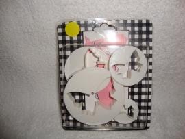 Vlinder uitstekers Sweet Choice - 4 stuks - 12040