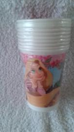 Rapunzel papieren drinkbekers - 8 stuks