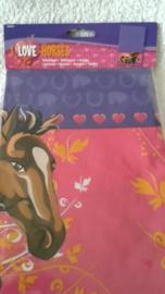 Paarden plastic tafelkleed 130 x 180 cm