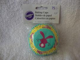 Cupcake vormpjes Pasen Paashaas 75 stuks Wilton - 415-0920