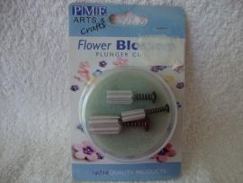 Aluminium Blossoms bloemetjes Plunger PME - 3 stuks