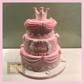 Prinsessen taart 24 personen 3 lagen