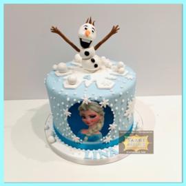 Frozen taart 10 personen