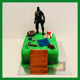 Fort nite taart 12 personen