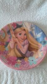 Rapunzel papieren borden - 8 stuks