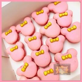 Macarons Minnie 8 stuks
