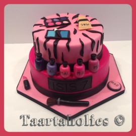 Make up taart 16 personen