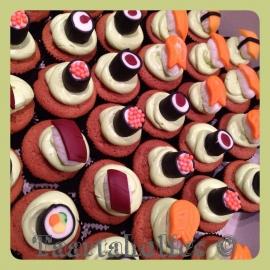 Cupcakes sushi 6 stuks