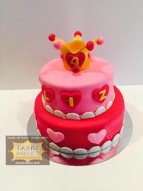 Roze Prinsessen taart 16 personen