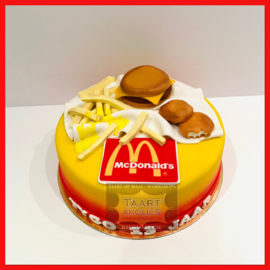 Fastfood taart 10 personen