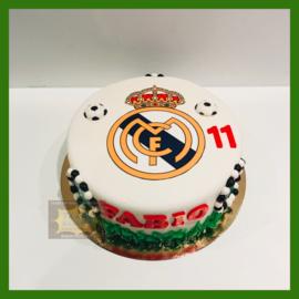 Real Madrid taart 10 personen