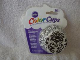 Cupcake vormpjes Color Cups zwart wit 36 stuks Wilton - 415-0518