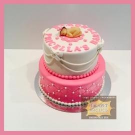 Baby shower taart 16 personen