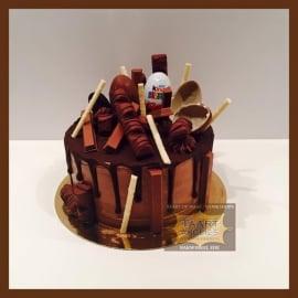 Chocolade Driptaart 10 personen