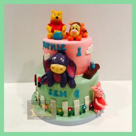 Winnie taart 16 personen