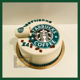 StarBucks taart 10 personen