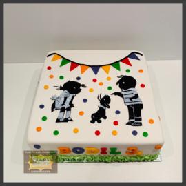 Jip & Janneke taart 12 personen