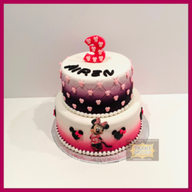 Minnie taart 16 personen