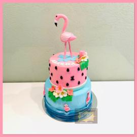 Flamingo taart 16 personen