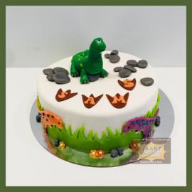 Dino taart 10 personen