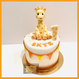 Sophie Giraffe taart 10 personen