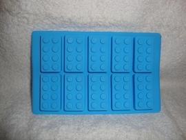 Bouwstenen siliconen mal - mould - 10 steentjes