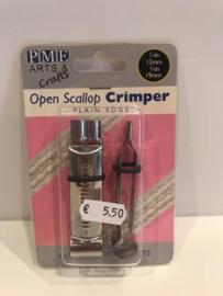 PME Open Scallop Ovaal Crimper - rechte lijn - OS273