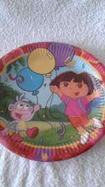 Dora papieren borden - 8 stuks