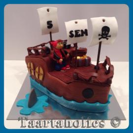 Piratenboot 3D voor 16 personen