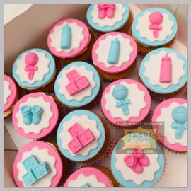 Cupcakes Gender 6 stuks