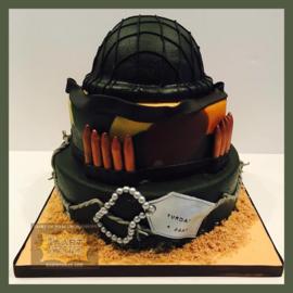 Militair taart 24 personen 3 lagen