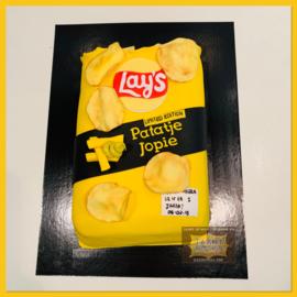 Chips taart 3D voor 16 personen