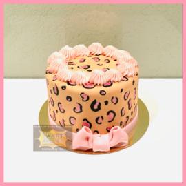 Smash Cake Luipaard strik taart