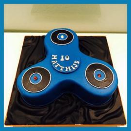 Spinner taart 3D met verlichting voor 25 personen