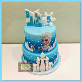 Frozen taart 16 personen