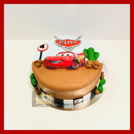 Cars taart 10 personen