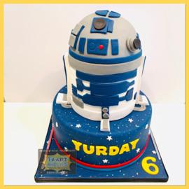 Star Wars taart 24 personen 3 lagen
