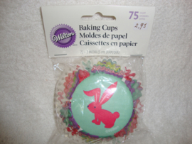 Cupcake vormpjes Pasen 75 stuks Wilton - 415-0686