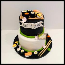 Sushi taart 16 personen