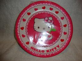 Hello Kitty papieren borden - 8 stuks