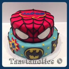 Superhelden taart 16 personen
