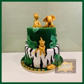 Gouden dieren taart 16 personen