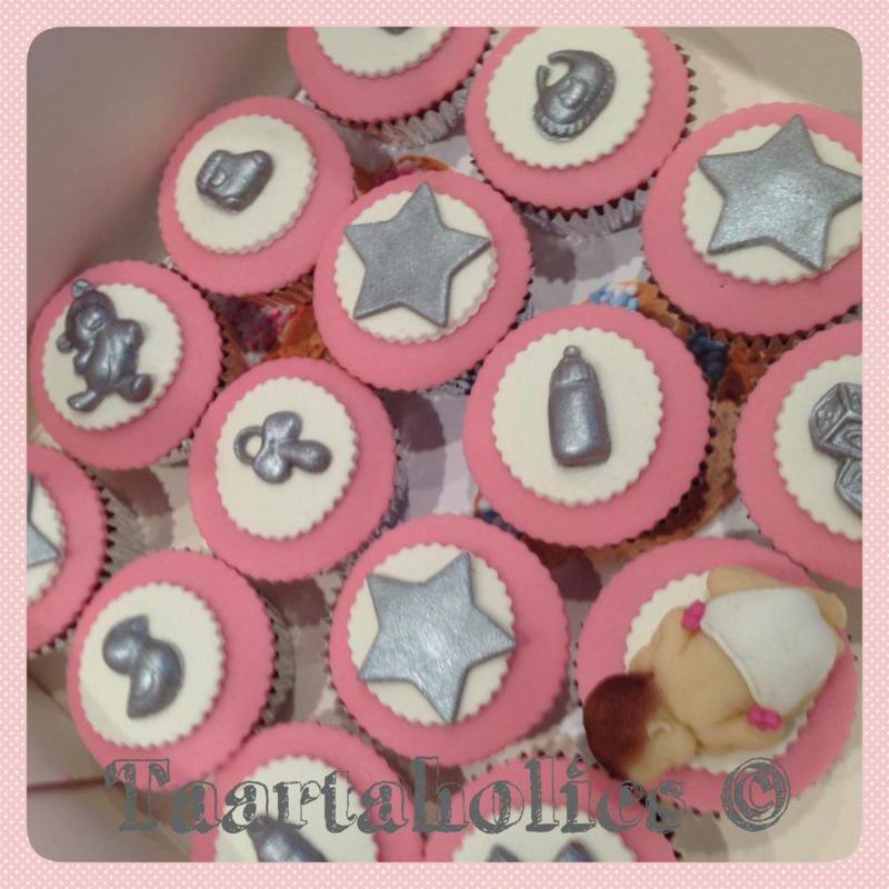 Cupcakes Geboorte 6 stuks